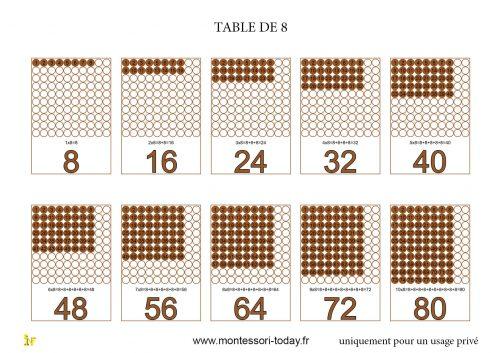 Les tables de multiplication imprimables montessori today for Multiplication de 8